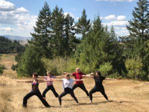 Yoga Warrior pose 9_17