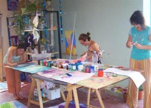 Panna, Hosana & Rani creating